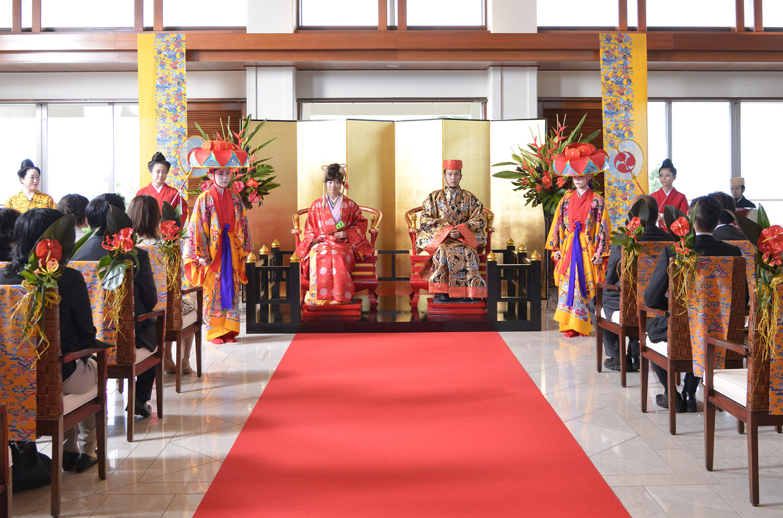 琉球王朝結婚式「玉座婚」